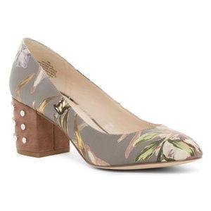 Nine West Floral Cerys Studded Heel size 8
